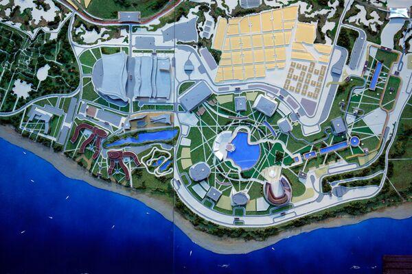 Планировочный макет комплекса Олимпийского парка, размещаемого на территории Имеретинской низменности