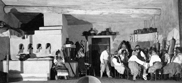 Сцена из оперы Мусоргского Сорочинская ярмарка