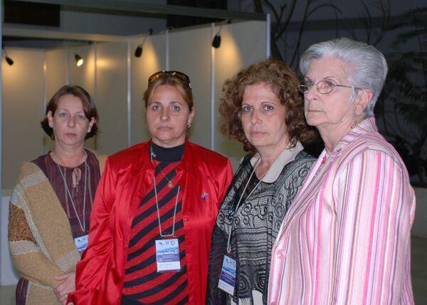 Родственницы кубинцев из героической пятерки