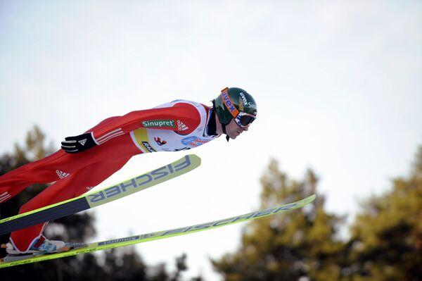 Летающий лыжник Дмитрий Васильев