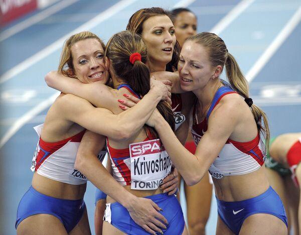 Женская сборная России стала победителем чемпионата Европы в эстафете 4х400 метров