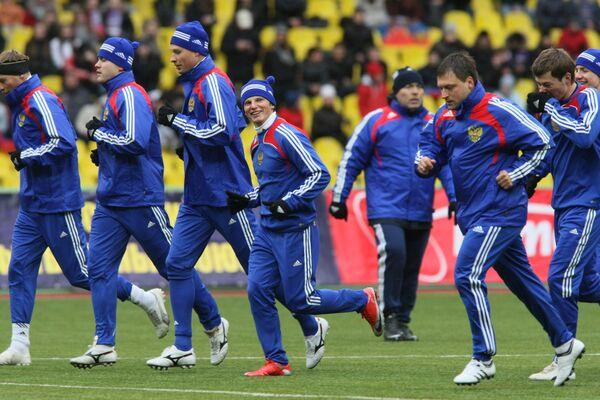 Открытая тренировка сборной России по футболу