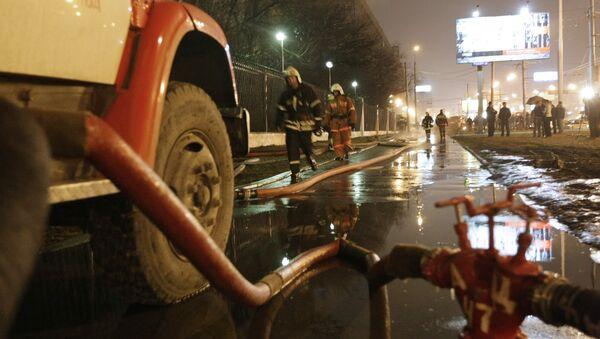 Ликвидация пожара в МАИ