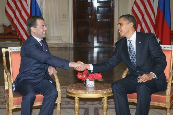 Пресс-конференция президентов России и США Д. Медведева и Б. Обамы