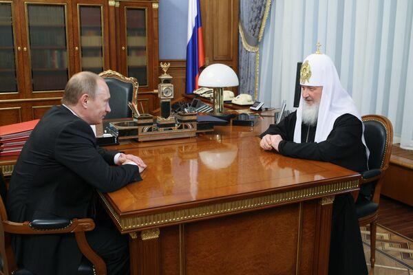Премьер-министр РФ В.Путин встретился с Патриархом Московским и Всея Руси Кириллом