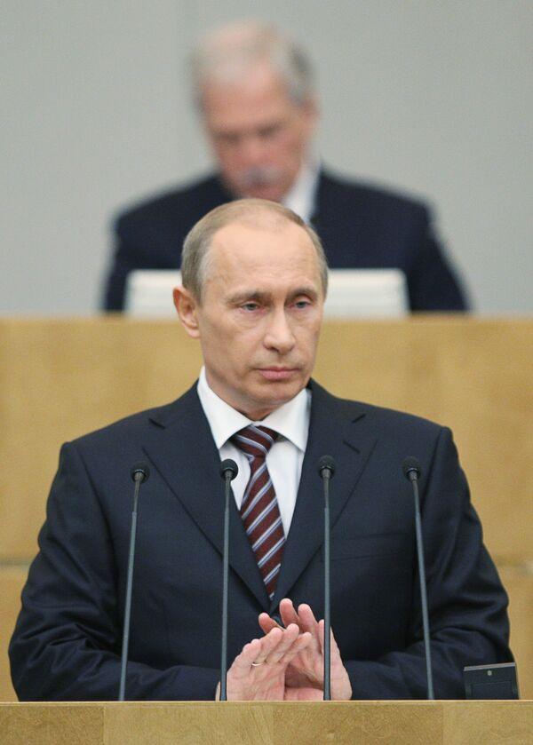 Путин в Госдуме: пришел, отчитался, убедил