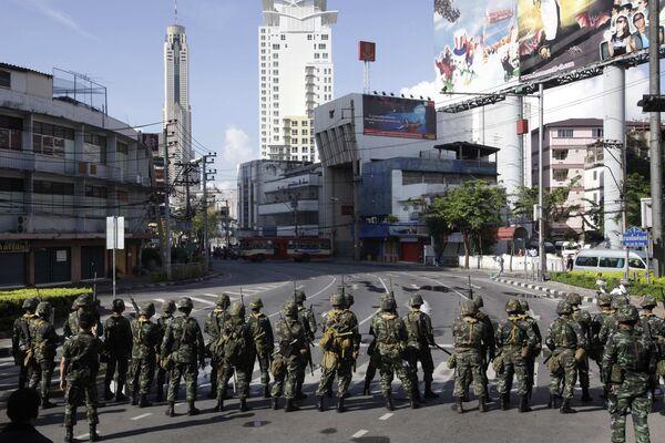 Тайская армия в Бангкоке