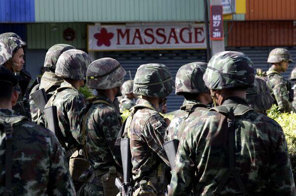 Солдаты тайской армии в Бангкоке