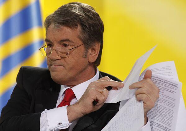 Ющенко пугает избирателей колонизацией Украины