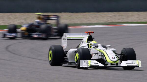 Болид пилота команды Браун Дженсона Баттона на Гран-при Китая