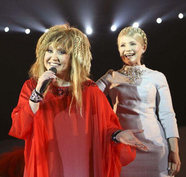 Премьер-министр Украины Юлия Тимошенко посетила концерт Аллы Пугачевой в Киеве