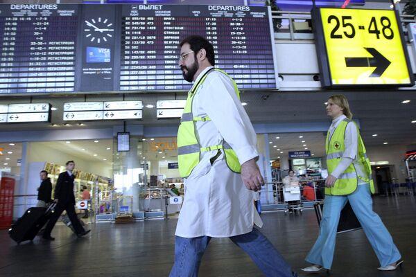 В аэропортах Москвы повышены меры безопасности в связи с угрозой распространениягриппа
