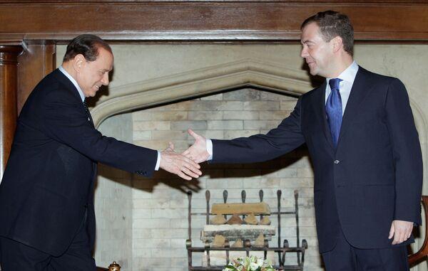 Встреча президента РФ Д. Медведева и премьер-министра Италии С. Берлускони