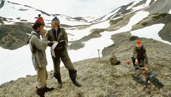 Геологи на Камчатке. Архивное фото