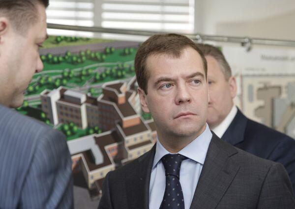 Президент РФ Д.Медведев посетил Центр сердечно-сосудистой хирургии