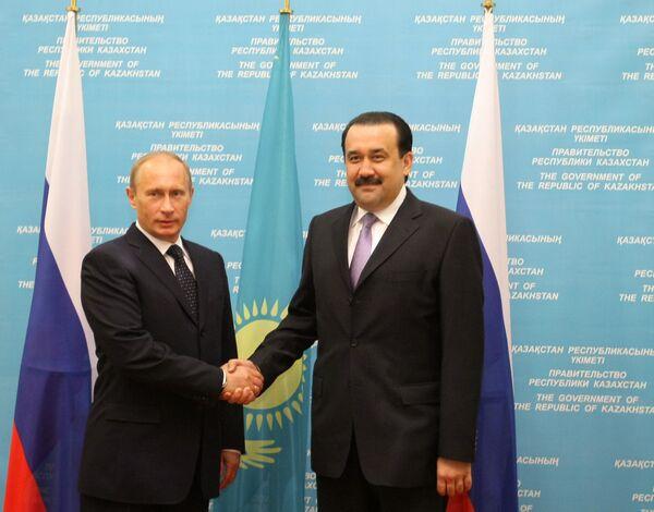 Встреча глав правительств России и Казахстана в Астане