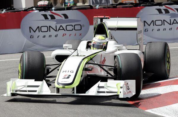 Дженсон Баттон во время квалификации на Гран-при Монако