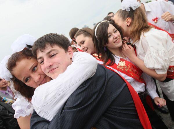 Гулянья выпускников школ. Архив