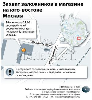 Захват заложников в магазине на юго-востоке Москвы