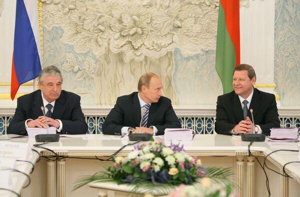 Заседание Совета министров Союзного государства России и Белоруссии в Минске