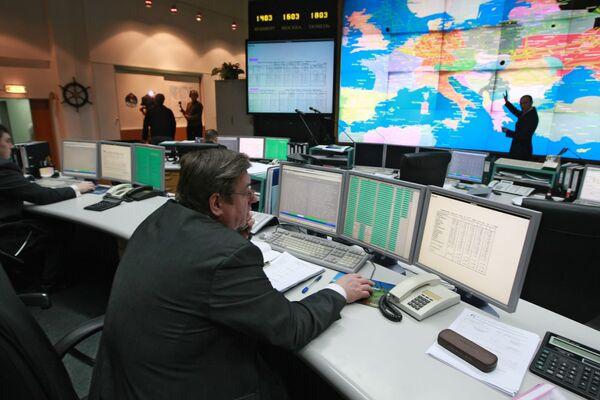Диспетчерский центр ОАО Газпром. Поставки газа после аварии на уральском газопроводе остались прежними