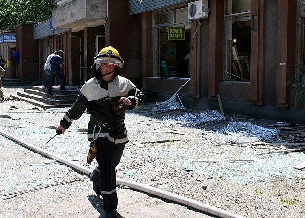Взрыв в банке в Мелитополе