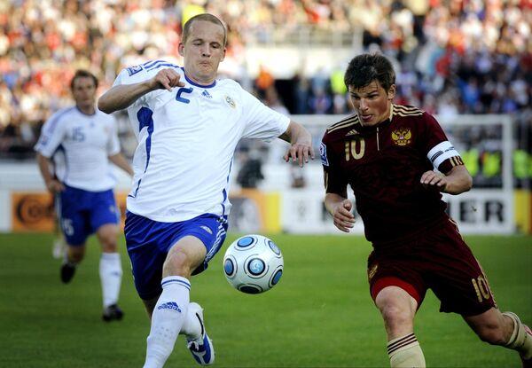 Отборочный матч ЧМ-2010 Финляндия - Россия