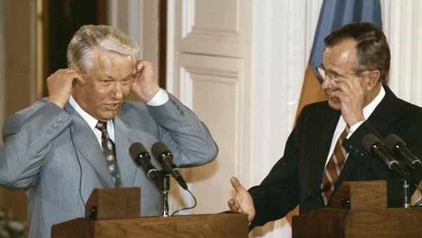 Борис Ельцин Джордж Буш