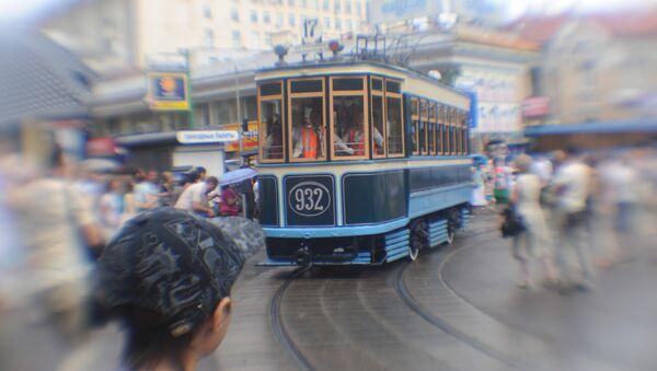 Парад уникальных ретро-трамваев в Москве, архивное фото