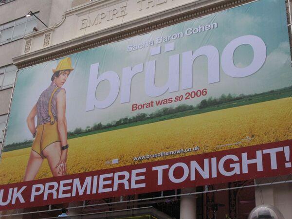 Премьера скандального фильма Бруно проходит в Лондоне