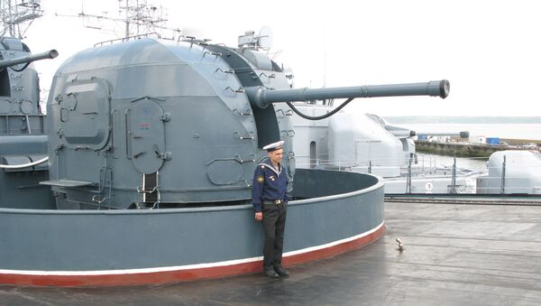 На борту БПК Североморск