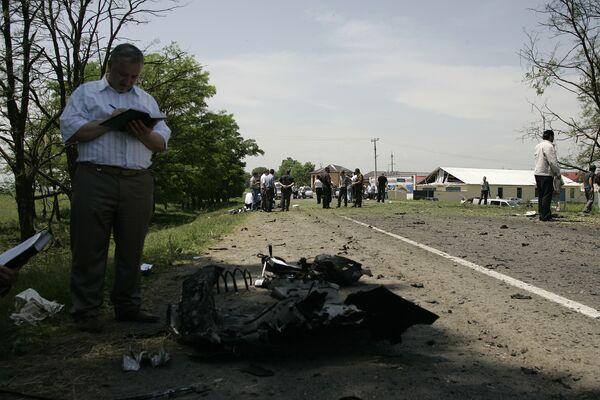 На месте покушения на президента Ингушетии в Назрани
