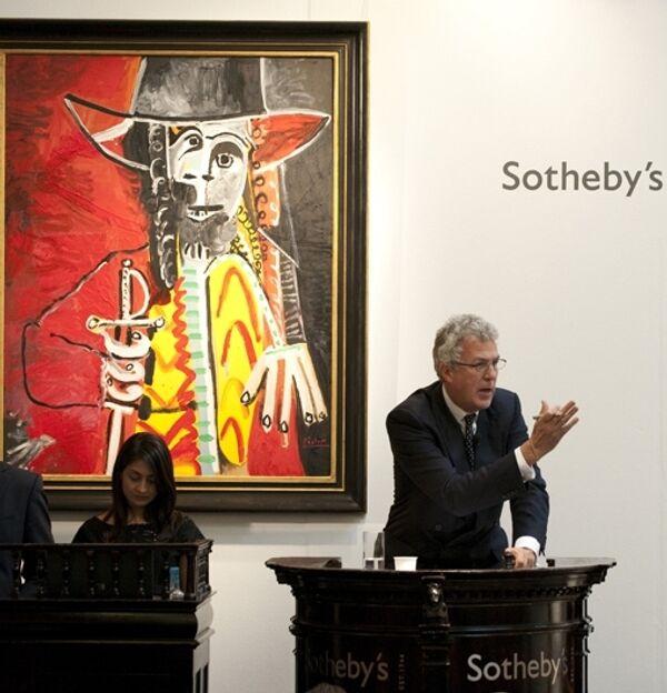 Картина Пабло Пикассо Мужчина со шпагойна Sotheby's