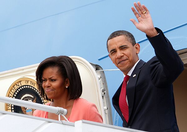 Барака Обама с супругой