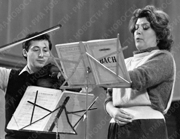 Спиваков и Образцова во время репетиции
