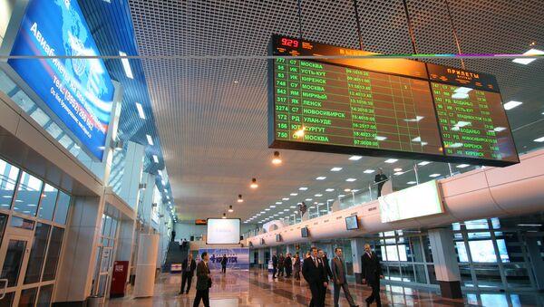 Аэровокзал в Иркутске. Архивное фото