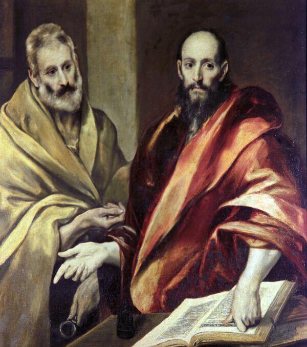 Репродукция картины Эль Греко Апостолы Петр и Павел