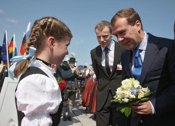 Президент РФ Д.Медведев прибыл с визитом в Мюнхен