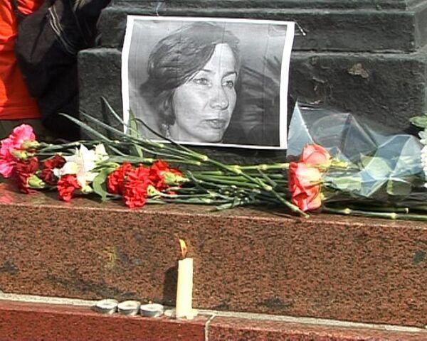 На пикет памяти Эстемировой те, с кем она работала и кого спасла