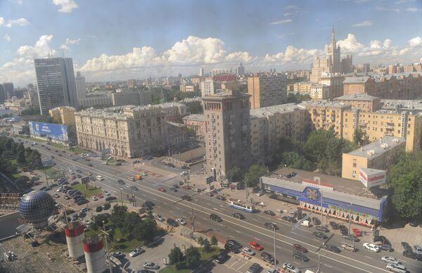 Вид на Новый Арбат в Москве. Архив