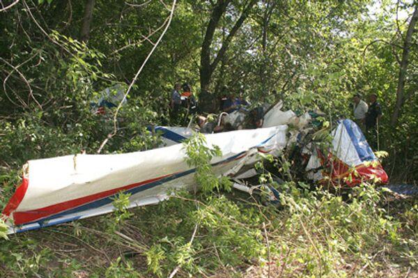 Самолет упал в Саратове