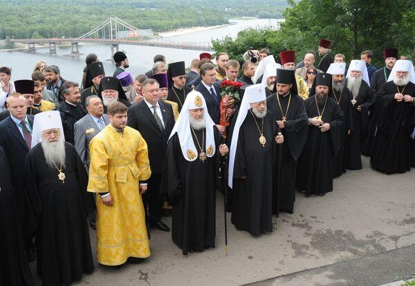 Патриарх Московский и всея Руси Кирилл и митрополит Киевский и Всея Украины Владимир