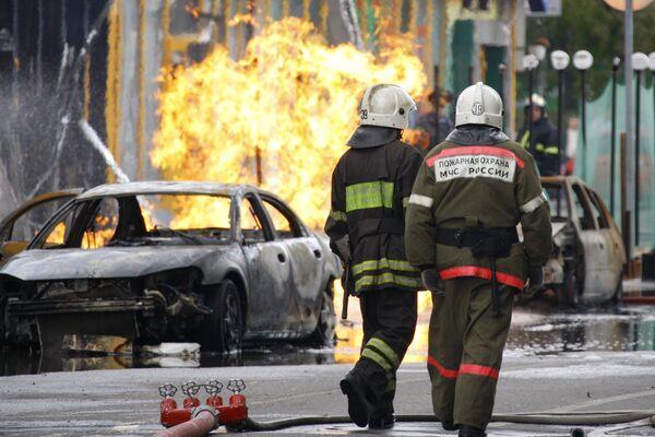 Авария на газопроводе на севере Москвы