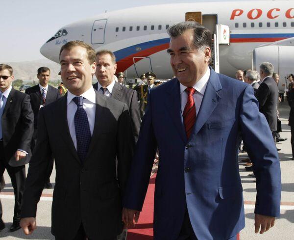 Рабочий визит президента РФ Д. Медведева в Республику Таджикистан