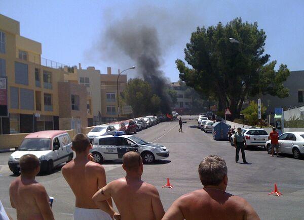 Взрыв около полицейской казармы в городе Пальманова на испанском острове Майорка
