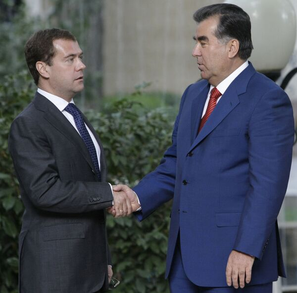 Рабочий визит президента РФ Д.Медведева в Республику Таджикистан