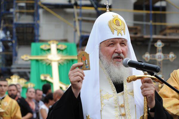 Патриарх Московский и всея Руси Кирилл на Украине