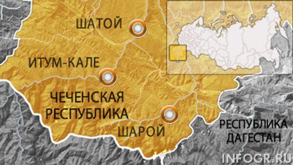 Чечня. Карта