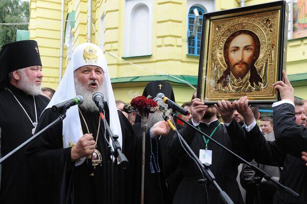 Патриарх Кирилл посетил кафедральный собор в Ровно
