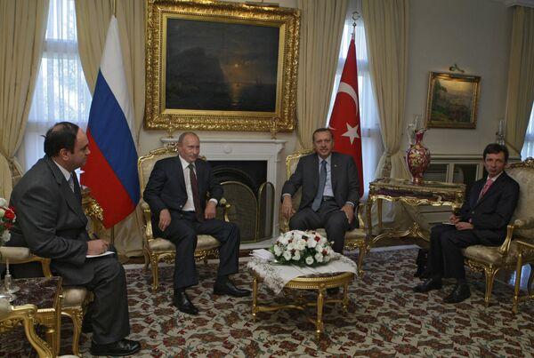 Беседа Владимира Путина с Реджепом Тайипом Эрдоганом